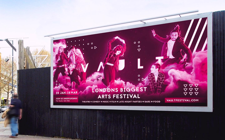 vault branding and advertising design on billboard