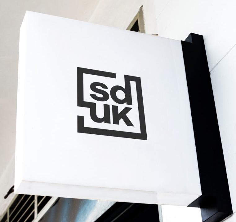 sduk logo design on wall anchor