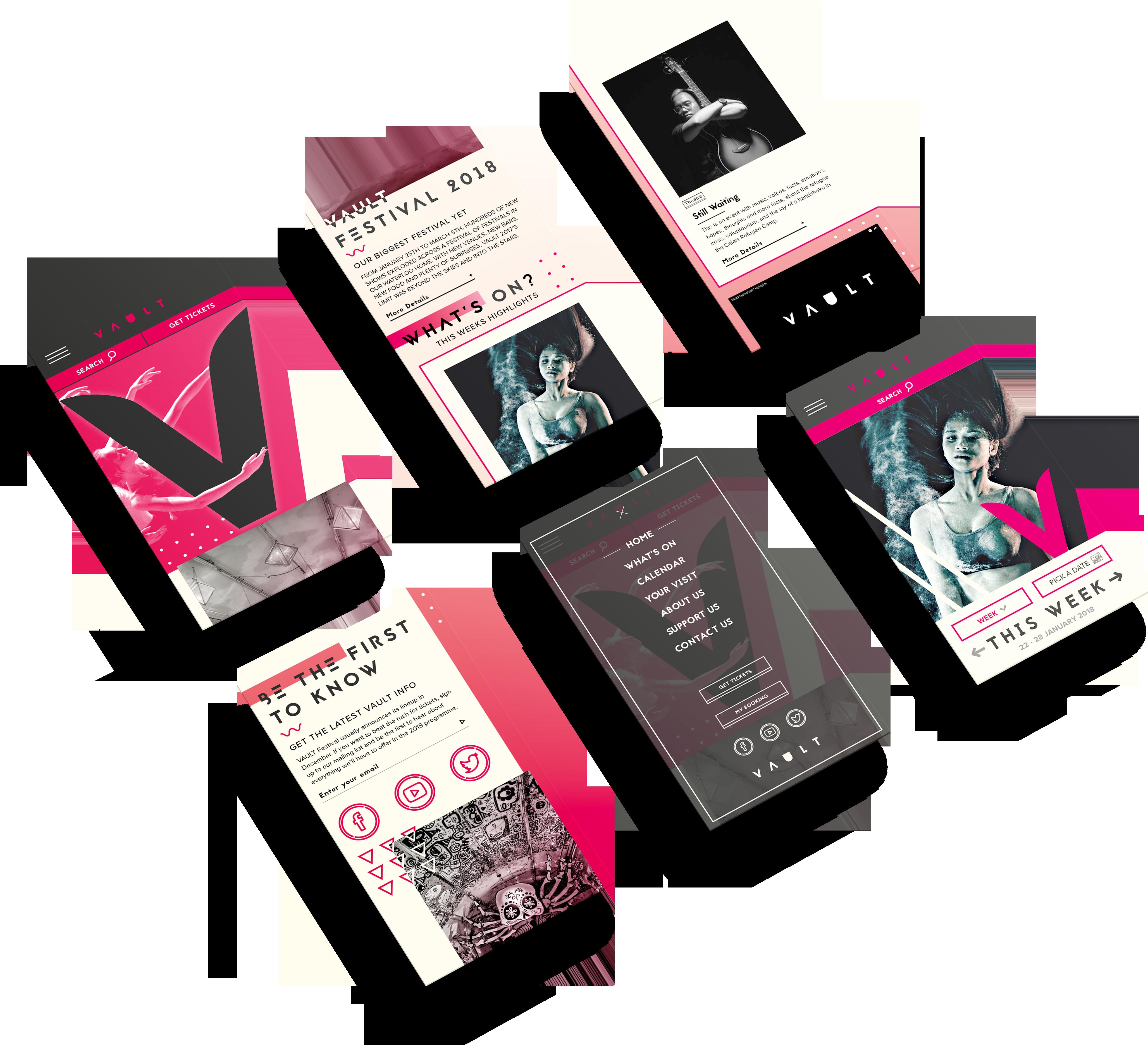 floating mobile app designs