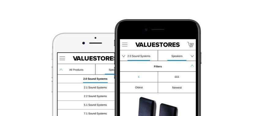 ecommerce mobile filter design on smartphone