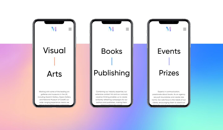 3 mobile designs on smartphones