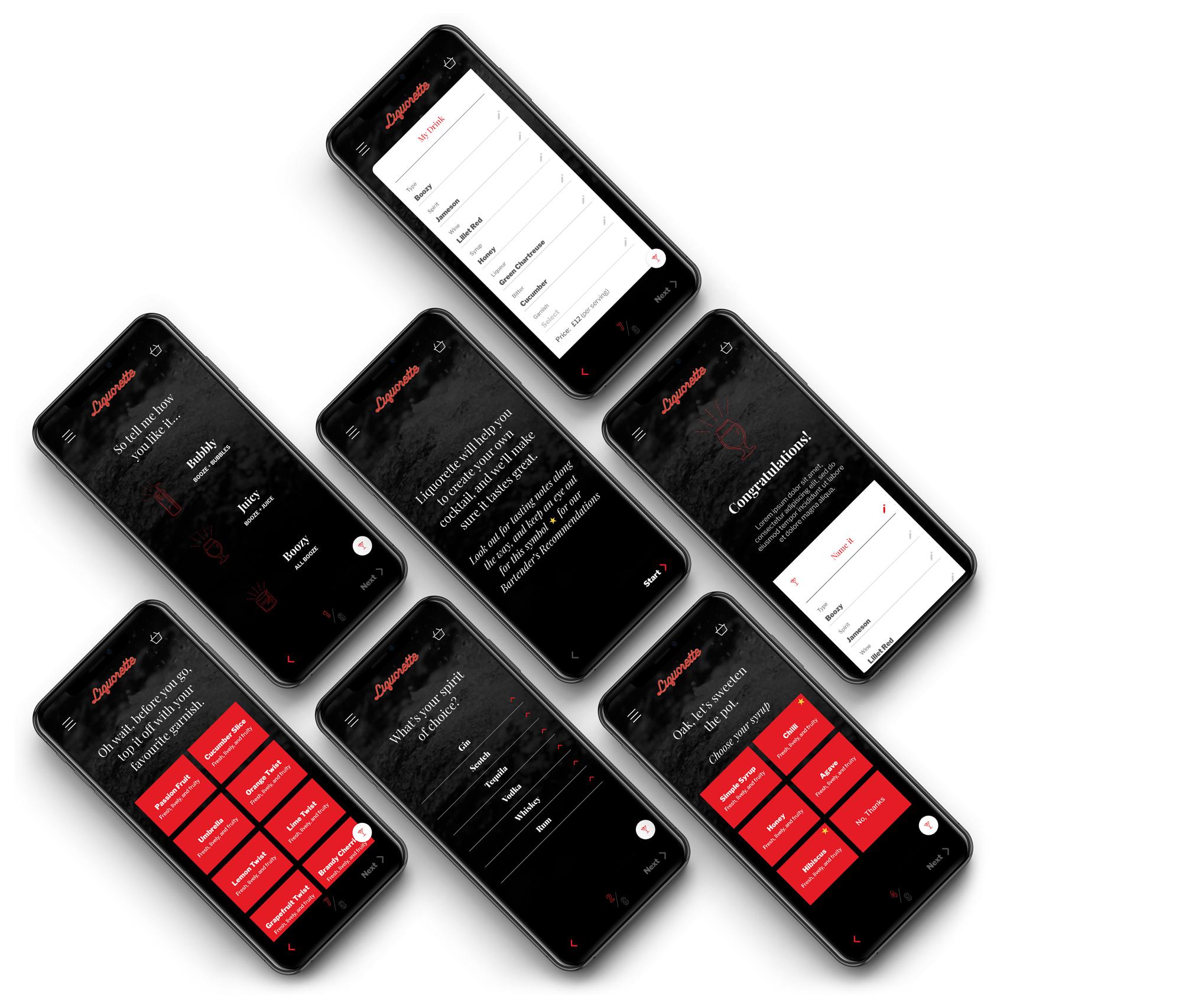 smartphones displaying app design