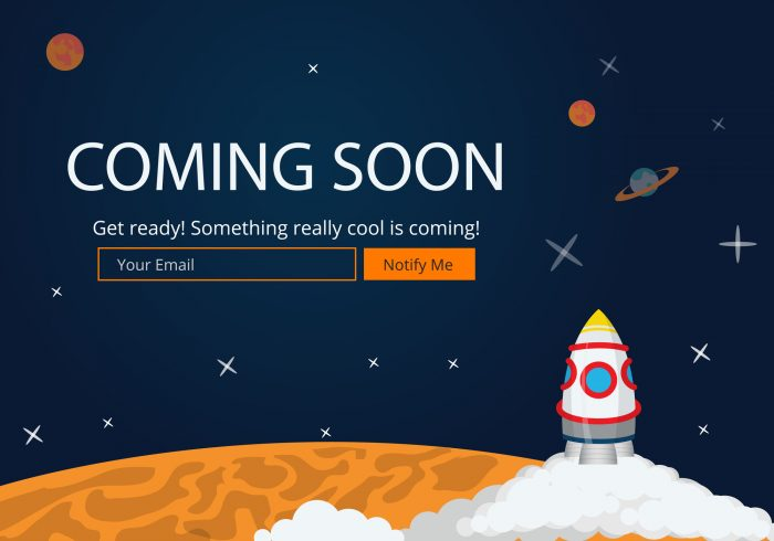Pre launch holding page website